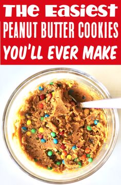Gluten Free Desserts - Easy Peanut Butter Cookie Recipe! These tasty little treats with NO flour, will have you dreaming of dessert all day long! Plus, with just 4 ingredients they're as easy as can be! Go grab the recipe and give them a try this week!