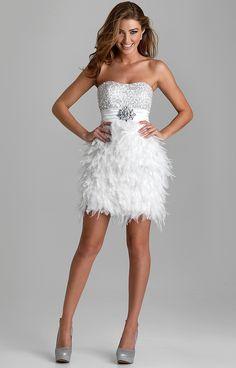 Aliexpress.com: Comprar Hot Style lentejuelas sin tirantes y adornado de plumas mini vestidos de coctel cortos de los mini vestidos fiables sup inf ...