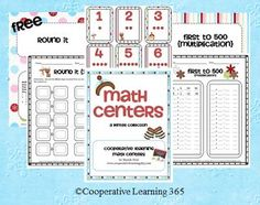 This free Math Centers Mini Collection contains two different games both aligned to Common Core.  Each game comes with a recording sheet, directi...
