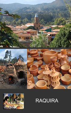 """Ráquira, literally """"City of Pots"""" in the Chibcha language, is a municipality and town in Boyacá Department, Colombia. Places To Travel, Travel Destinations, Places To Visit, Koh Tao, Color Theory, Countries Of The World, Continents, Travel Around, Cartagena Colombia"""