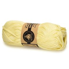 04 Light Yellow Mayflower Organic Cotton 8/4 50g by altErMuligt on Etsy