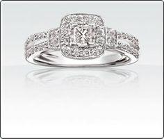 Maya - 1/2ct T.W. Diamond Princess Cut and Brilliant Engagement Ring