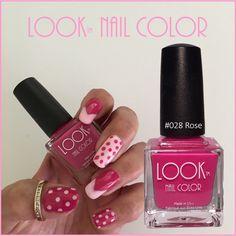 DIY fun pink dot nails!