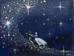 Mary Blair concept art for Walt Disney's 'Cinderella', 1950.