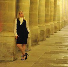#40plusstyle inspiration: ribbon collar dress | 40plusstyle.com