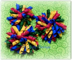 Autism Awareness Colorful Korker Bow by TandRCraftyBowtique, $4.50 LIKE our Facebook page and never miss out on a GIVEAWAY, Facebook only deals and events! https://www.facebook.com/craftycreations