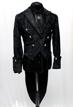 IMPERIAL TAILCOAT - BLACK VELVET BROCADE