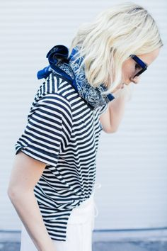 Stripes are the perfect pairing for prints, to make the look work the print needs to have the same colours as the stripe. www.stylestaples.com.au