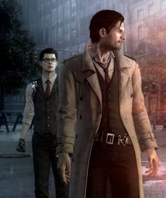 《The Evil Within / Sebastian Castellanos and Joseph Oda》 Detective, The Evil Within Game, Buy Leather Jacket, Sebastian Castellanos, Horror Video Games, Survival, Boogie Woogie, Video Game Characters, Popular Videos