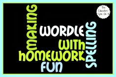 Ideas for Practicing Spelling Words for Homework on Wordle.  Afterschool Express @The Educators' Spin On It