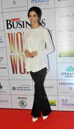 Deepika Padukone at the 'Outlook Business Women Entrepreneurs - The Super Achievers' event in Mumbai.