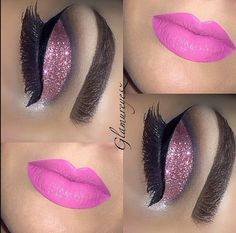 Eye Kandy's glitter in Double Bubble for this pretty cut crease www.eyekandycosmetics.com