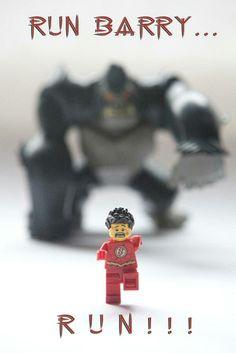 Lego Flash. Just Keep Running. #TheFlash #BarryAllen #Grodd