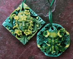 """Goddess and God Offerings... no instructions, pinned for inspiration to make from polymer clay (maybe 4""""x4"""" and 4"""" round so I can detail it easier)"""