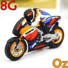 Motorcycle Rider USB Stick, 8GB Motorbike style Flash Memory Flash Drives