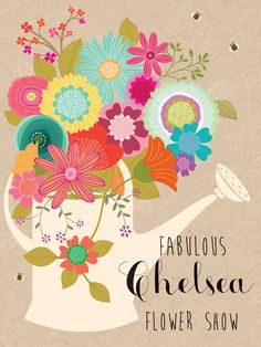 Chelsea Fabulous Show (W455) Luxury Card by Hillberry. Card features raised textures http://www.thewhistlefish.com/product/w455-fabulous-chelsea-flower-show-luxury-card-by-hillberry