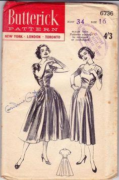 1953 Butterick 6736