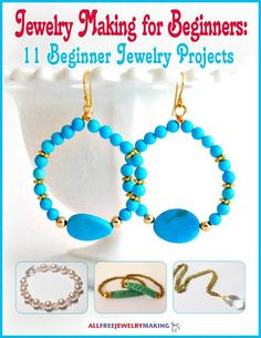 Have you always dreamed of designing your own jewelry? Well stop dreaming and start doing with Jewelry Making for Beginners: 11 Beginner Jewelry Projects! Master jewelry making techniques while learning how to make bracelets, necklaces, and earrings. Making Jewelry For Beginners, Jewelry Making Tools, Jewellery Making, Do It Yourself Jewelry, Do It Yourself Fashion, Beaded Earrings, Beaded Jewelry, Handmade Jewelry, Hoop Earrings
