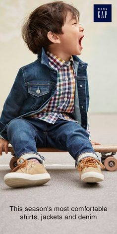 from cozy outerwear to denim made for all day comfort and long lasting fit, BabyGap has all you need to go back to school in style. Gap Kids, Toddler Boys, Infant Boys, Toddler Outfits, Baby Boy Outfits, Stylish Kids, Kid Styles, Little Man, Baby Gap