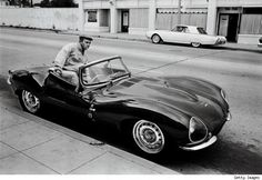 steve mcqueen and his 1956 Jaguar XKSS