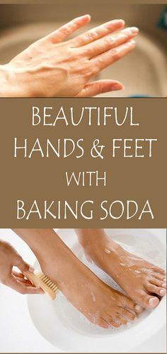 Beautiful Hands And Feet With Baking Soda Baking soda can be used for exfoliation, having the ability to remove dead cells without affecting your skin, making it clean and bright. Mix 3 tablespoons of baking soda with 1 tablespo Baking Soda Shampoo, Baking Soda Uses, Tips And Tricks, Skin Care Remedies, Home Remedies, Baking Soda Health, Skin Care Routine For 20s, Hand Care, Feet Care