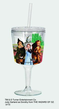 """The Wizard of Oz """"Cast"""" Insulated Goblet Dorthy Wizard Of Oz, Wizard Of Oz Collectibles, Cute Kitchen, Kitchen Items, Land Of Oz, Judy Garland, Little Dogs, Hurricane Glass, Wine Glass"""