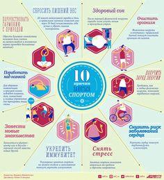 10 причин заняться спортом. Инфографика   Инфографика   Аргументы и Факты