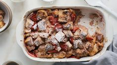 This strawberry bread pudding recipe is an instant breakfast ready in under 30 minutes as a sweeter version of a strata.