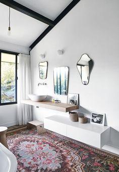 Bathroom with rug