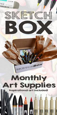 Monthly art supplies delivered to your door. www.getSketchBox.com