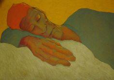 pete holbrook - a light sleep, coloured pencil