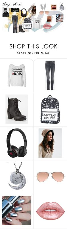 """""""Troye"""" by agitae on Polyvore featuring Soda, Beats by Dr. Dre and Ray-Ban"""