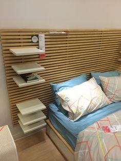 IKEA Mandal headboard and adjustable shelves.
