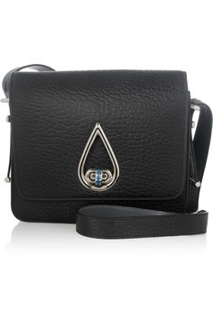 KENZO | Raindrop textured-leather shoulder bag