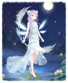 Miracle Nikki Anime Fairy, Anime Angel, Manga Girl, Fanart, Anime Dress, Disney Fairies, Sketch Inspiration, Fantastic Art, Anime Outfits