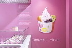 YO! frozen yoghurt café in different locations, Estonia