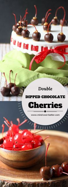 Double Dipped Chocolate Caramel Cherries -- www.mind-over-batter.com
