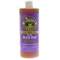 Organic Shea Butter Pure Black Castile Soap 32 Oz  Pack of 2 by Dr Woods *** Learn more by visiting the image link.