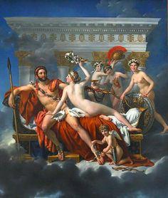 Mars being disarmed by Venus, Jacques-Louis David