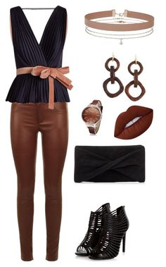 """Black & Brown"" by eda-edos on Polyvore featuring moda, SET, Roksanda, Reiss, Miss Selfridge, Nest ve Lime Crime"