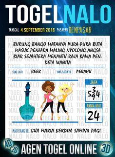 Prediksi Togel Online Live Draw 4D TogelNalo Denpasar 4 September 2016