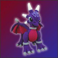 Amigurumi Patrón PDF Crochet Cynder Dragon DIY por DeliciousCrochet