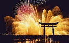 花火 (Fireworks at Torii Gate, Itsukushima Jinja Shrine, Japan) Happy New Year Quotes, Quotes About New Year, New Year's Eve Wallpaper, Hd Wallpaper, Nabana No Sato, New Years Eve Fireworks, London Fireworks, Fireworks Photos, Japanese New Year