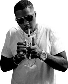 Nas Black and White picture .
