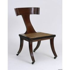 Chair, James Newton, 1805.  This one looks surprisingly modern to me. Regency Furniture, Georgian Furniture, Antique Furniture, Chair Design, Furniture Design, Art Nouveau, Antique Chairs, Cabinet Makers, Victoria And Albert Museum