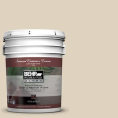BEHR Premium Plus Ultra 5-gal. #PPU4-12 Natural Almond Eggshell Enamel Interior Paint