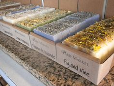 Unwrapped Paris Market Soaps Displayed In Boxes Of Eight Soaps
