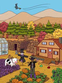 Stardew Valley art > Farming Scene > Farmer Life > The Farm House > Crops & Animals Fan Art, Stardew Valley Tips, Stardew Valley Farms, Stardew Valley Fanart, Retro Video Games, Harvest Moon, Animal Crossing, Pixel Art, Art Inspo