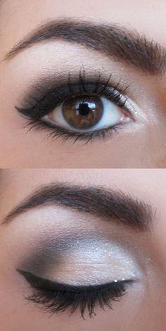 Sheer Silver Smokey Eye Tutorial