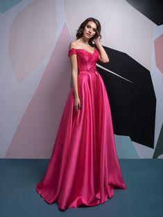 ff29b6e86050 Cyklaménové šaty na stužkovú s veľkou sukňou z mikáda